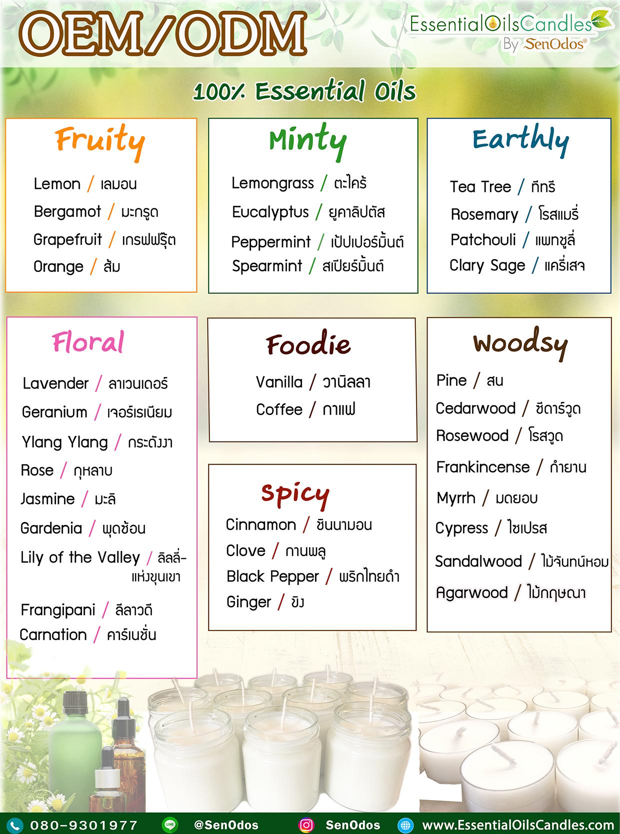 essential oils list